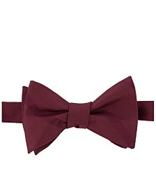 Tommy Hilfiger Men's Textured Stripe To-Tie Silk Bow Tie