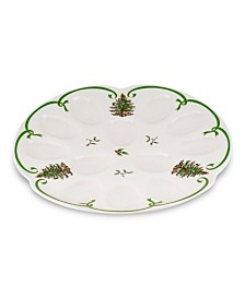 Spode Christmas Tree Deviled Egg Dish