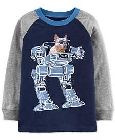 Carter's Toddler Boys French Bulldog Robot-Print Cotton T-Shirt