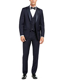 Men's Slim-Fit Stretch Navy Tuxedo Suit Separates