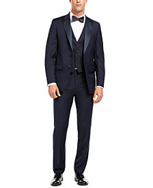Calvin Klein Men's Slim-Fit Stretch Navy Tuxedo Suit Separates