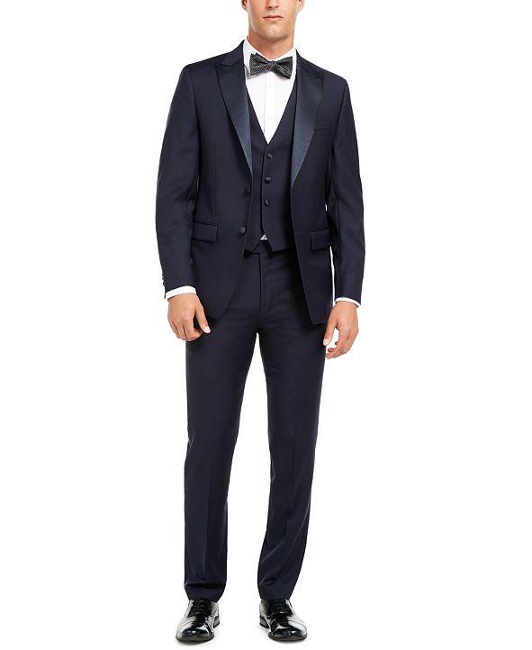 Calvin Klein Men's Slim-Fit Stretch Navy Tuxedo Suit Separates