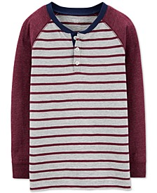 Little & Big Boys Striped Henley T-Shirt