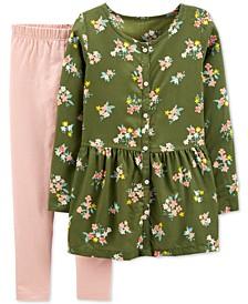Little & Big Girls 2-Pc. Floral-Print Tunic & Leggings Set
