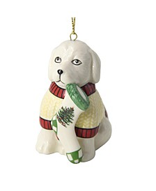 Christmas Tree Puppy with Stocking Ornament
