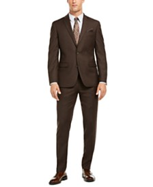 Bar III Men's Slim-Fit Brown Textured Suit Separates, Created for Macy's