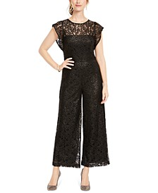 Wide-Leg Lace Jumpsuit