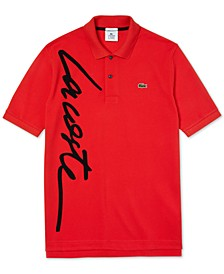 Men's L!VE Over-Sized Script Logo Polo Shirt