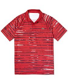 Men's Performance Stretch Novak Djokovic Stripe Polo Shirt