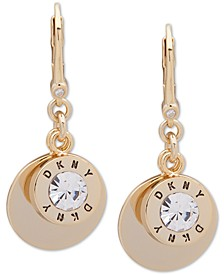 Gold-Tone Crystal & Disc Drop Earrings