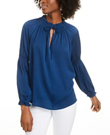 Current Air Tie-Neck Blouse