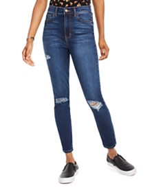 Celebrity Pink Juniors' Distressed High-Rise Skinny Jeans