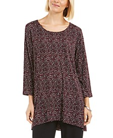 Printed Woven-Back Tunic, Created for Macy's