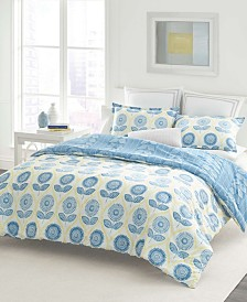 Laura Ashley Sunflower Blue Duvet Set, Full/Queen