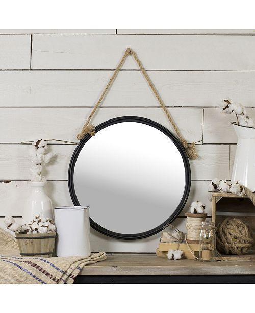 VIP Home & Garden Antique Metal Round Hanging Mirror