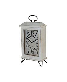 VIP Home & Garden Wood Table Clock