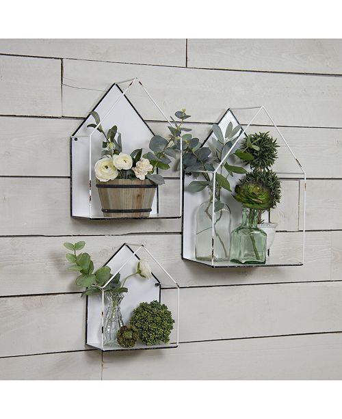 VIP Home & Garden 3-Piece Metal Wall Plant Holders