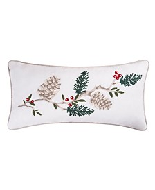 C&F Home Natural Pines Chain Stitch Pillow