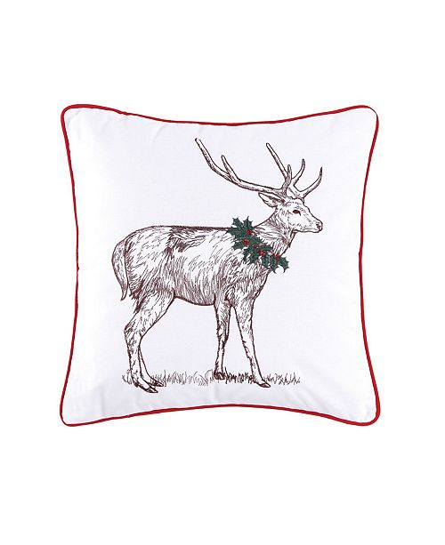 C&F Home Holly Deer Pillow