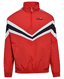 Diadora Men's Logo Tape 1/2-Zip Track Jacket