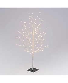 Everlasting Glow 47.2-Inch High Electric Tree with Warm White Micro LED Lights, White