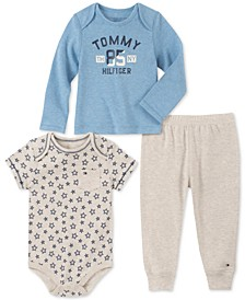 Baby Boys 3-Pc. Bodysuit, T-Shirt & Jogger Pants Set