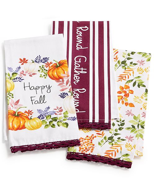 Martha Stewart Kitchen Towels: Martha Stewart Collection Harvest Kitchen Towels, Set Of 3