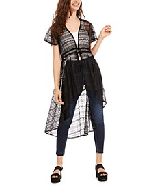 Juniors' Lace High-Low Duster Top, Created for Macy's