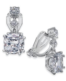 Danori Crystal Clip-On Drop Earrings, Created For Macy's