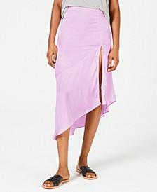 Lola Slit Ruffled Midi Skirt