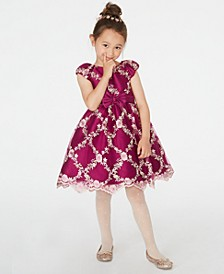 Toddler Girls Embroidered Fit & Flare Dress
