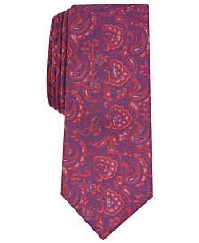 Bar III Men's Stewart Skinny Paisley Tie, Created for Macy's