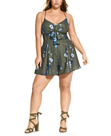 City Chic Trendy Plus Size Tamika Romper