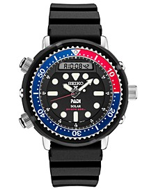 Men's Solar Analog-Digital Prospex Divers Black Silicone Strap Watch 47.8mm