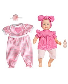 Toy Doll Baby with Accessories and Outfit