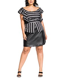 Trendy Plus Size Striped Baby Top
