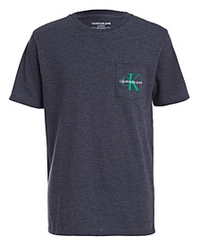 Big Boys Monogram Logo Pocket T-Shirt