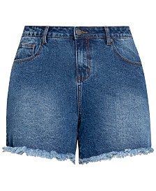 City Chic Trendy Plus Size Soul Sister Jean Shorts