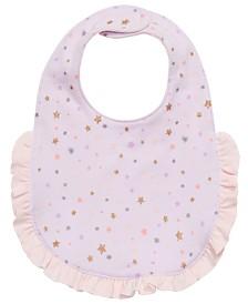 First Impressions Baby Girls Cotton Unicorn-Print Bib, Created for Macy's
