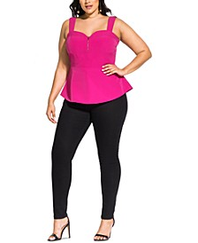Trendy Plus Size Peplum Top