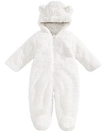 Baby Boys & Girls Hooded Footed Faux-Sherpa Bunting Snowsuit, Created for Macy's