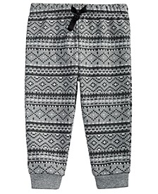 Toddler Boys Fair Isle-Print Cotton Jogger Pants, Created For Macy's
