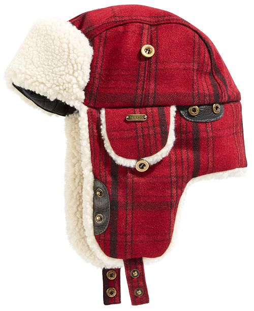 STETSON Men's Buffalo Plaid Trapper Hat