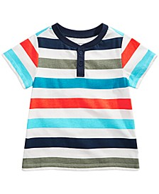 Baby Boys Striped Cotton Henley T-Shirt, Created for Macy's
