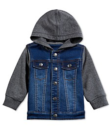 Baby Boys' Contrast Denim Jacket, Created for Macy's