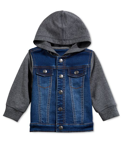 First Impressions Baby Boys' Contrast Denim Jacket, Created for Macy's