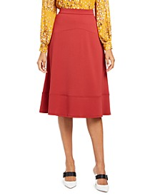 Seamed A-Line Midi Skirt, Created for Macy's