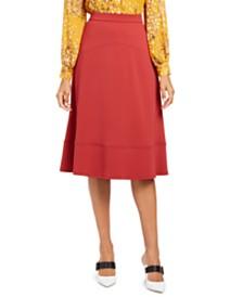 Alfani Seamed A-Line Midi Skirt, Created for Macy's
