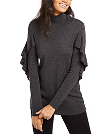 Kacey Ruffled Wool Sweater