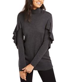 Elie Tahari Kacey Ruffled Wool Sweater